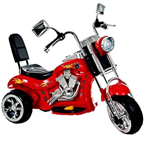 Ride on Toy, 3 Wheel Trike Chopper Motorcycle for Kids by Lil' Rider - Battery Powered Ride on Toys for Boys and Girls, 2 - 4 Year Old - Red