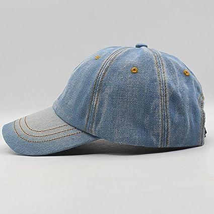 Amazon.com : LZTY Baseball Cap Baseball Cap Men Women Snapback Caps Homme Hats for Women Falt Bone Jeans Denim Blank Gorras Casquette Plain Cap Hat : Sports ...
