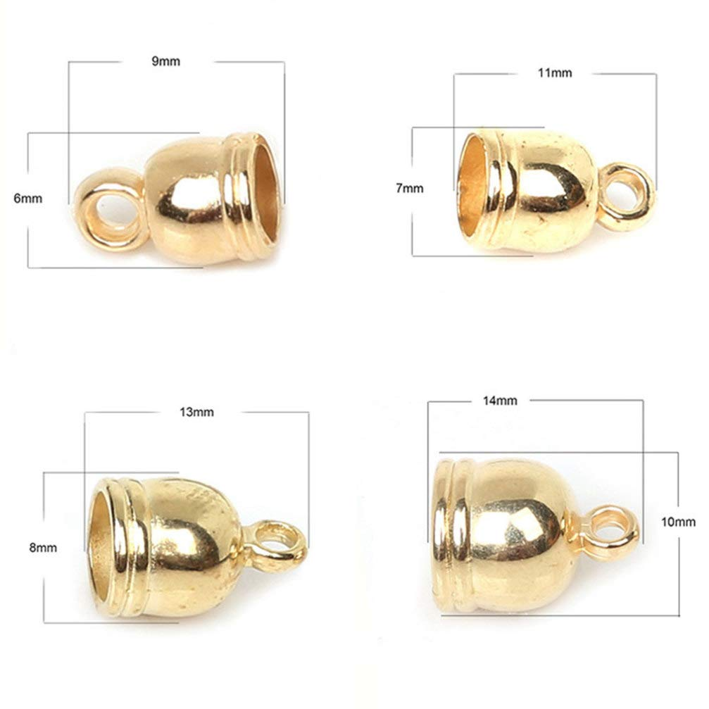 SUPVOX Ciondoli Charms Forma a Campana Pendente Perline per Creazione di Gioielli Braccialetti Collane Orecchini Bigiotteria Fai da Te Argento e Oro