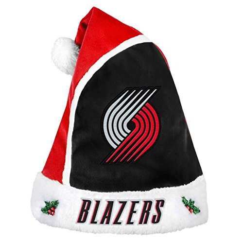 2015 NBA Basketball Team Logo Holiday Plush Basic Santa Hat - Pick Team (Portland Trail Blazers) by Forever Collectibles