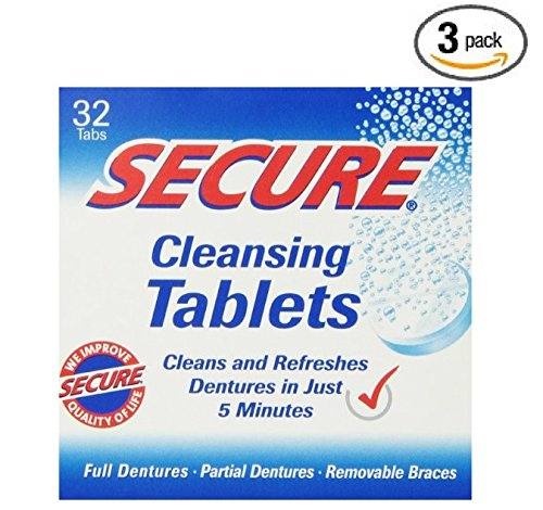 Secure Cleansing Tablets 32 tabs (3 boxes of (Cleansing Box)