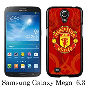 Manchester United 6 Black Newest Customized Samsung Galaxy Mega 6.3 i9200 i9205 Phone Case
