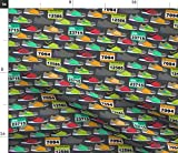 Spoonflower Running Shoes Fabric - Athletic Running Running Racing Shoe Marathon Cross Country Exercise Fitness Wellness Health by Run Quiltgirl Run Printed on Fleece Fabric by The Yard
