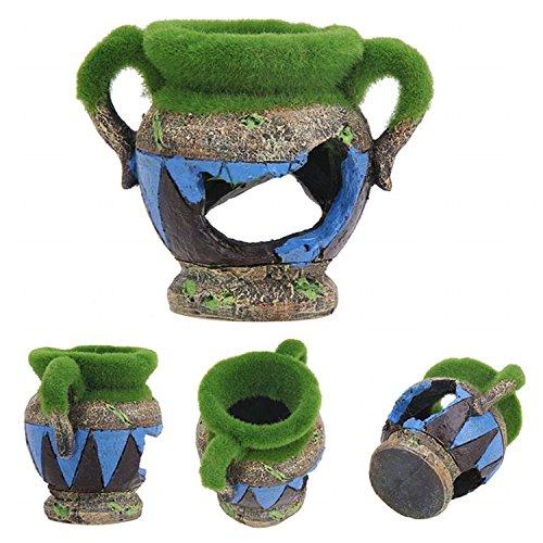 K&C exóticos entornos jarrón griego ornamento del acuario para el tanque de peces de acuario: Amazon.es: Deportes y aire libre