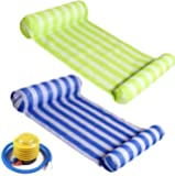 RACPNEL Pool Float Inflatable Water Hammock for Adults 2-Pack (Blue & Green) Multi-Purpose Portable Swimming Pool Lounge…