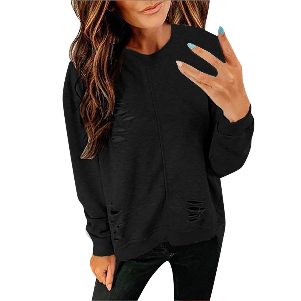 Goddesslili Blouses for Women Fashion 2019, O-Neck Casual Velour Top Blouses for Girls College Student, Back to School Essentials Muti Colors