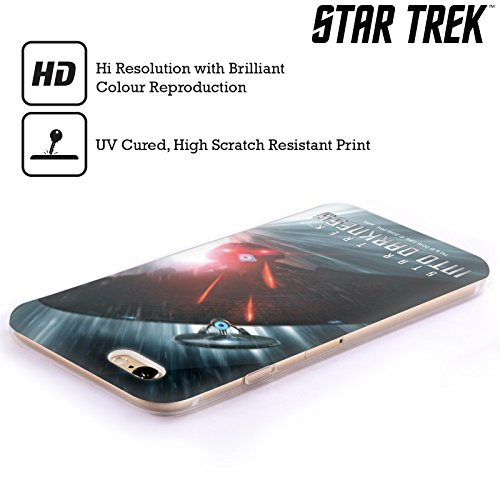 Officiel Star Trek Starship Poursuite de Déformation Affiches Dans Obscurité XII Étui Coque en Gel molle pour Apple iPhone 6 Plus / 6s Plus