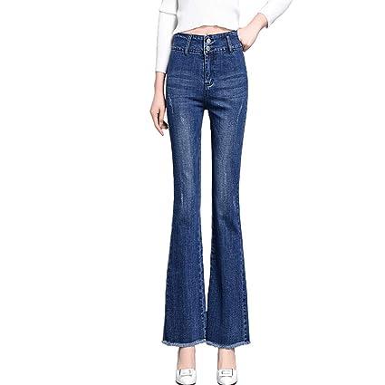 RXF Pantalones de Cintura Delgada de los Pantalones Vaqueros ...