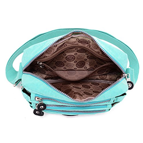 Lots Lightweight Purse Small Zipper Bag body with Shoulder Girls TianHengYi Pockets Cross Nylon Rose Satchel xTwgPf0qF