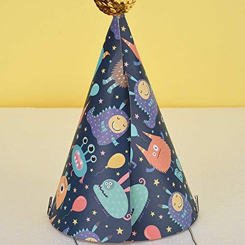6 PCS Cone Hats Happy Birthday Party Hats Fun Hats for Adults Kids Birthday Party Decorations (Style1)