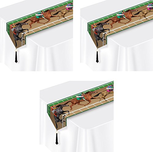 (Beistle 59952, 3 Piece Printed Horse Racing Table Runners, 11