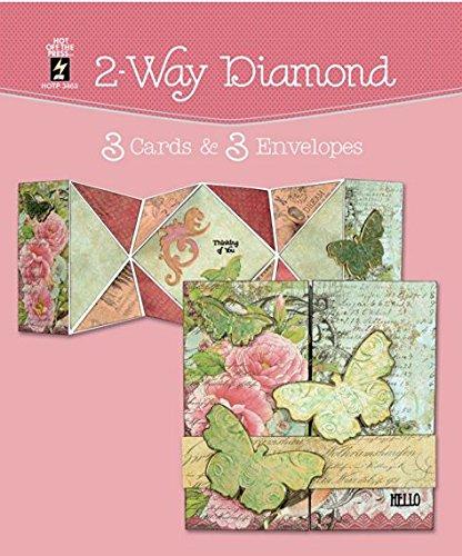 2-Way Diamond Cards & Envelopes 3-sets per Pack HOTP3463 Die-Cut Cards
