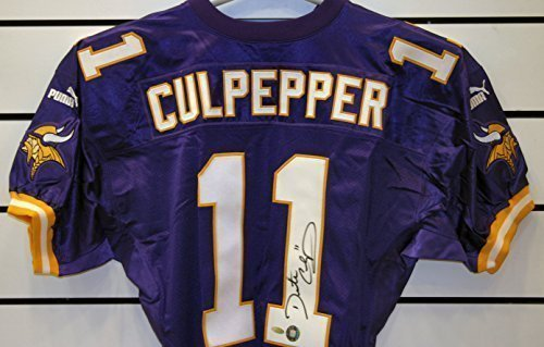 new style 3febc 697d5 Daunte Culpepper Autographed Vikings Jersey. at Amazon's ...