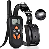 Training Dog Collar - TinMiu Dog Training Collar 2018 Upgraded Collar 1650FT Remote 4 Working Modes with Tracking Light/Beep/Vibration/Shock 100% Waterproof and Rechargeable Shock Collar for Small Medium Large Dogs
