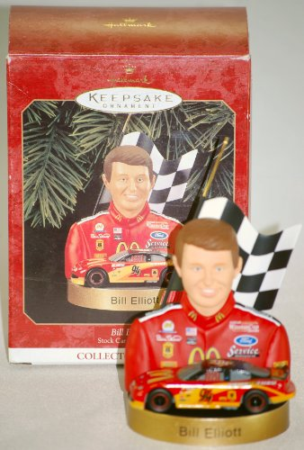 1999 - Hallmark / Bill Elliott Keepsake Ornament - NASCAR - Stock Car Champions Collector's Series - Handcrafted - 3rd & Final of Series - Rare - New - Out of Production - Limited Edition - Collectible ()