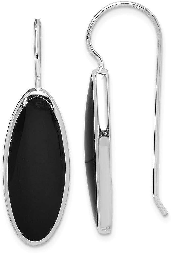 Pendientes de plata de ley 925 con diseño de ónix para mujer