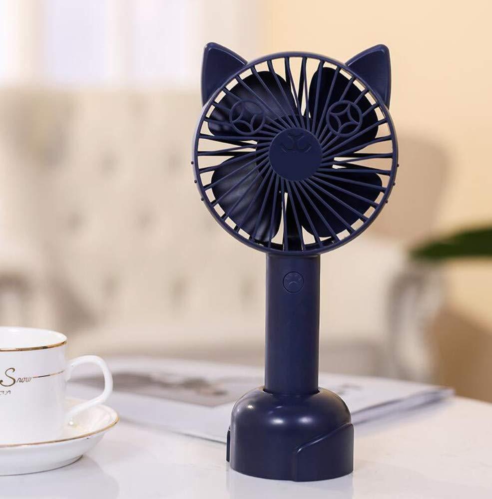 XFS Creative Fashion Summer Fansmall Fan,Portable USB Rechargeable Mini Student Mute Cute Handheld Dormitory Bed Fan,Office Desktop Desktop Mini Fan by XFS
