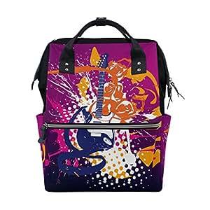 Mumimi - Bolsas de pañales para mamá de gran capacidad, para bebé, guitarra eléctrica, rock, mochila de viaje multifunción: Amazon.es: Bebé