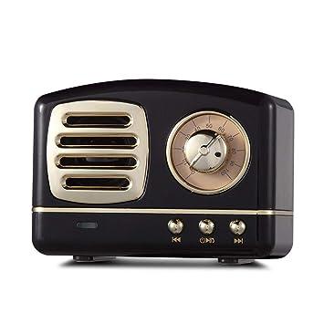 Altavoz Bluetooth Retro estéreo mini Vintage inalámbrico Nostalgic Bass Weigh mallalah lectura super larga duración carga
