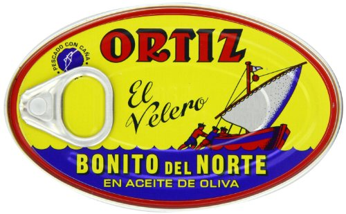 Ortiz Bonito Del Norte Tuna in Olive Oil 3.95 Oz Oval Tin (Spain) 24 ()