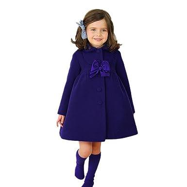 Chaqueta bebé niña, Amlaiworld Bebé niñas otoño invierno manto abrigo chaqueta Ropa de abrigo 24 Mes - 6 Años: Amazon.es: Ropa y accesorios