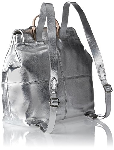 Backpack Leather Metallic Bay Handbag Totterdown Silver Women's Clarks 6tcqFA6