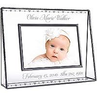 J Devlin Pic 319-46H EP508 Marco personalizado para bebés grabado Cristal transparente 4 x 6 fotos Corazones de bebés nuevos