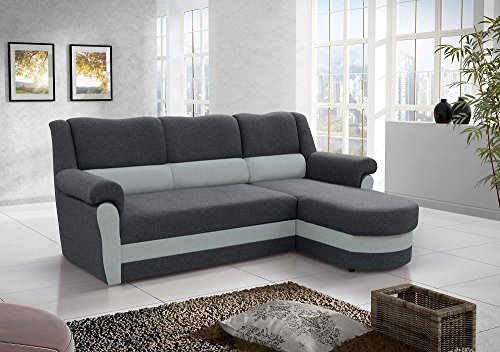 Don Baraton anticrisis net Sofa Chaise Longue Cama con arcon - Parma (Gris, Chaise Longue Derecha)