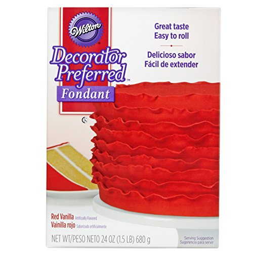 Wilton Decorator Preferred Red Fondant, 24 oz. Fondant -