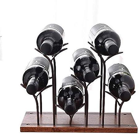 HJXSXHZ366 Estantería de Vino Estante del Vino Vino Titular de Metal Botella de Vino Botellero pie Sostenedores del Vino Soportes for el Gabinete Basement Bar Bodega Estante de Vino pequeño