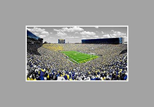 Michigan - College Football Stadium - 36x20 Matte Poster Print Wall Art TOC ()