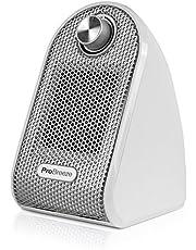 Pro Breeze 500W Mini Keramische Ventilatorkachel - Mini Heater Perfect voor Bureaus en Tafels - Persoonlijke PTC-verwarming, Wit