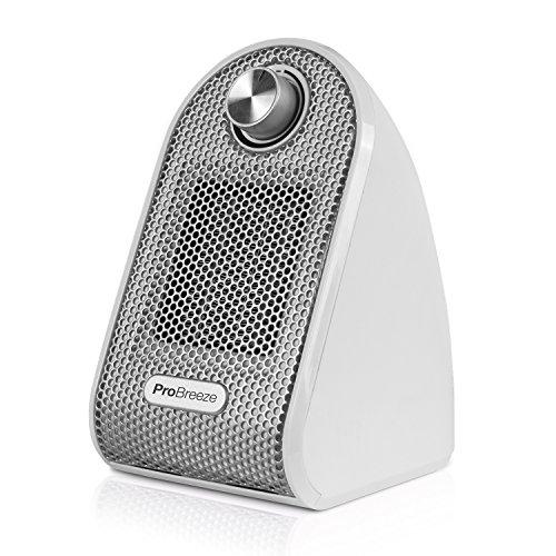Pro Breeze Calefactor Electrico Ceramico 500W - con Termostato Ajustable, Bajo Consumo y Proteccion contra Sobrecalentamiento - Calentador de Ceramica PTC