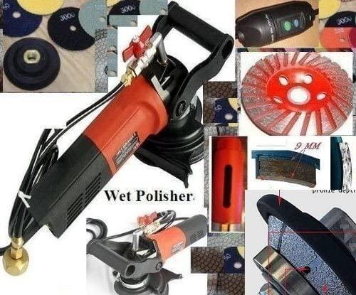 "5/"" Wet Polisher Grinder 17 Polishing Pad Grinding cup granite concrete masonry"
