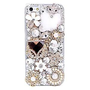 Flocado Pequeño Fox joyería del metal de nuevo caso de iPhone 5C