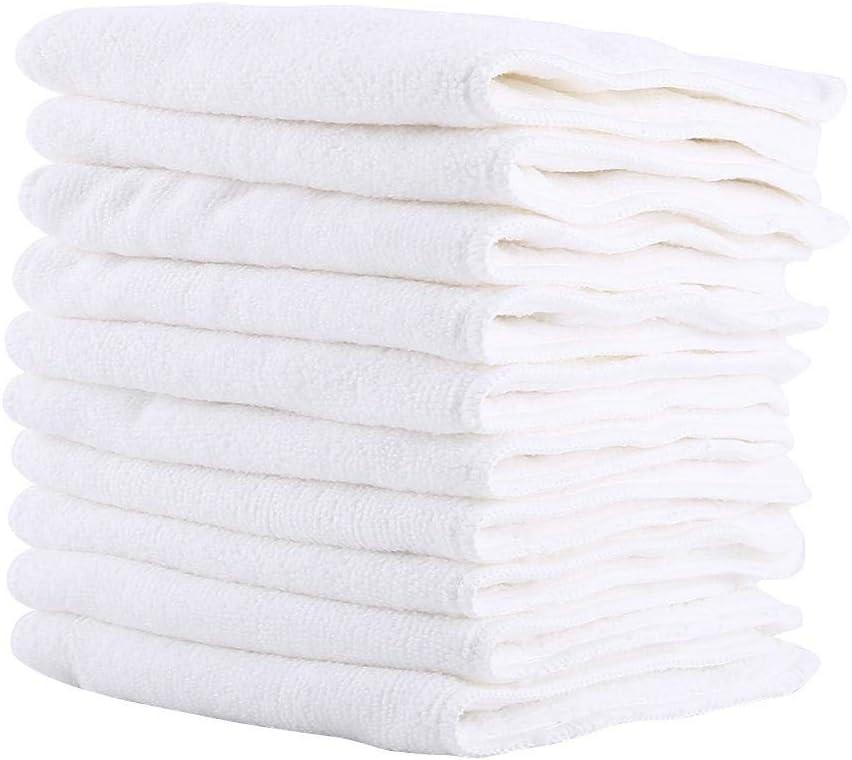 r/églable 10PCS Nouveau Lavable r/éutilisable 3 Couches Doublure de Couche-Culotte en Tissu Doux Insert Nappy Liner MAGT Doublure de Couche-Culotte en Tissu