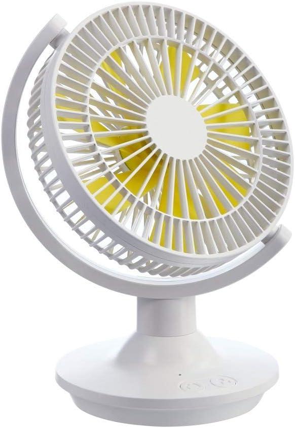 Desktop Fan Oscillating Adjustable Tilt Table Fan Portable Mini Energy Saving Breeze Mute for Family, Office, Study, Outdoor Camping, Picnic (White)