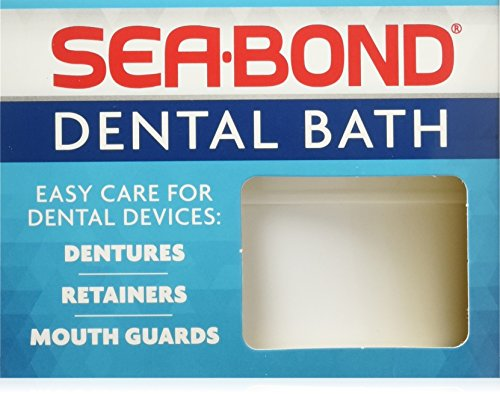 SEA-BOND Denture Bath 1 Each (Colors May Vary) (Pack of -