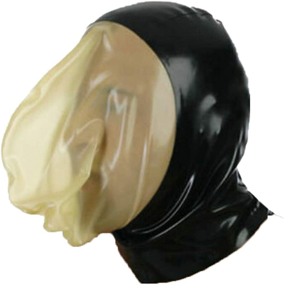 AiCc stylists Latex Hood with Sealed Breathing Bag for Experience Suffocation Rubber Mask