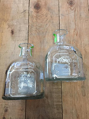 TEQUILA PATRON SILVER EMPTY BOTTLE - Great centerpieces - Rustic chic Empty bottles (8) by Landfilldzine (Image #2)