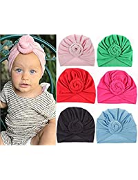 e305e382bb4 Newborn Baby Toddler Cotton Hat Baby Girl Knotted Hat Cute Donut Soft  Turban Bow Cap Set