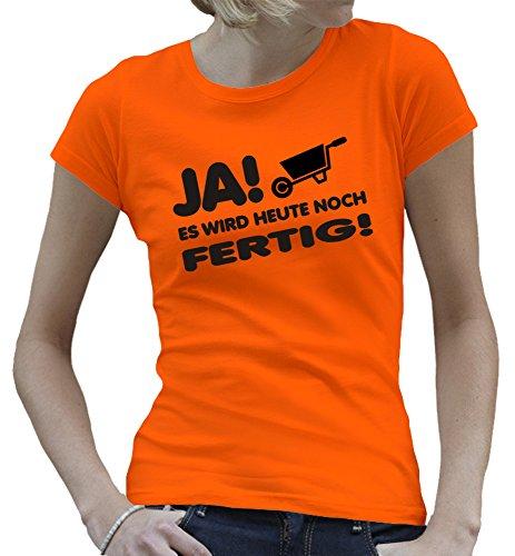 Touchlines - Camiseta - Manga Corta - para mujer naranja