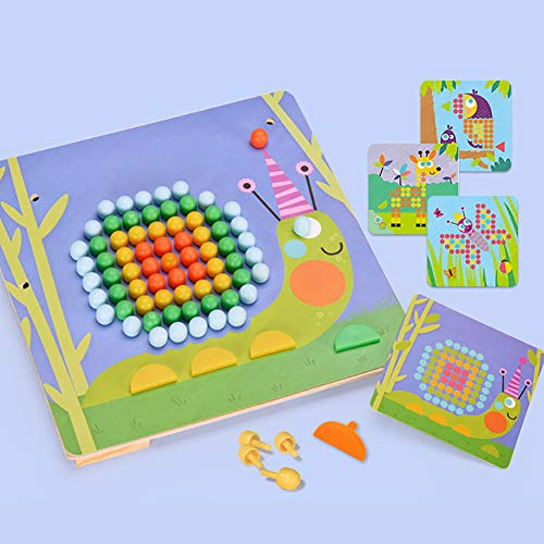 - E-House Puzzle for Kids Cardboard Cube Party Toy DIY Toys DIY Mosaic Picture Sketchpad Puzzle Toy Children Educational Mushroom Nail Kit