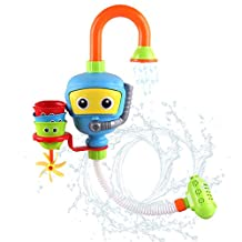 Toddlers Bathtub Water Game Toy - 3 Stackable and Nesting Cups,Submarines and Spout by Hanmun(Blue or Yellow in Radom)