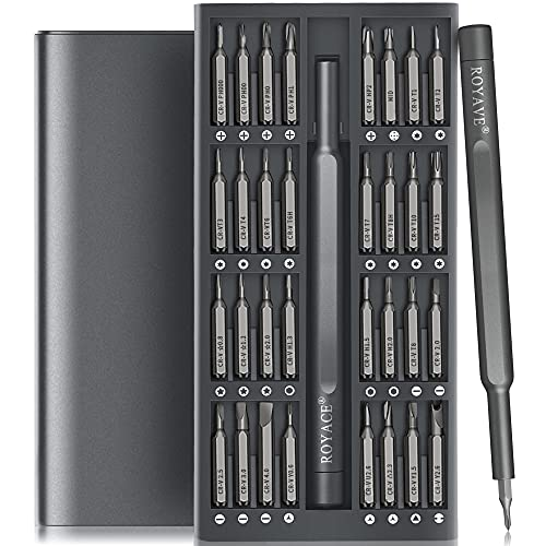 Royace Screwdriver Kit,33 in 1 Screwdriver Set,Electronics Tool kit Screwdriver Sets Computer Tool Kit Computer Tools Small Screwdriver Set Phone Repair Tool Kit for Laptop,Phone