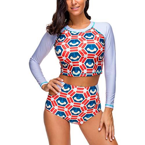 COPPEN Women Surfing Swimwear Sexy Print Quick-Drying Sport Two Piece Shorts Swimsuit 2019 Orange