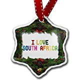 Christmas Ornament I Love South Africa , Colorful - Neonblond
