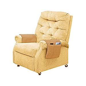 CT DISCOUNT STORE A Set Of 2 ArmChair Cover With Pocket (Tan)