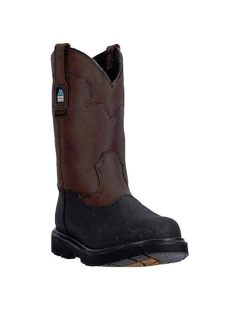 Mcrae Industrialメンズブラウン11 in WP Leather Work Boots Black Pullon ブラウン B01LXTQTLN