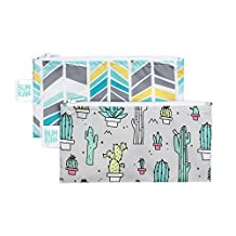 Bumkins Reusable Snack Bag Small 2 Pack, Cacti & Quill